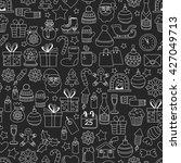 doodle vector icons merry... | Shutterstock .eps vector #427049713