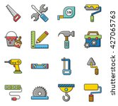 icon set tool vector | Shutterstock .eps vector #427065763