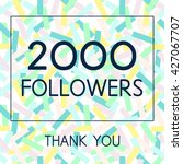 vector thank you 2000 followers ...