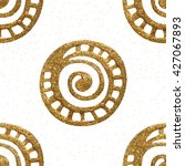 xmas hand drawn gold seamless... | Shutterstock .eps vector #427067893