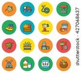 icon set farming vector | Shutterstock .eps vector #427068637