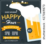 Happy Hour  Bar Flyer Or Poste...