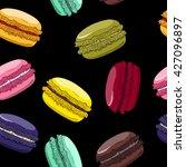 macaroons seamless pattern.... | Shutterstock .eps vector #427096897