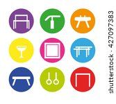 colorful icon set with artistic ... | Shutterstock .eps vector #427097383