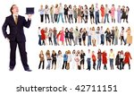 boss and the staff | Shutterstock . vector #42711151