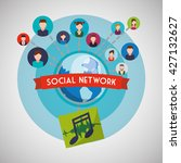 social network design. isolated ... | Shutterstock .eps vector #427132627