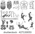 the set of symbols and logos... | Shutterstock .eps vector #427133053