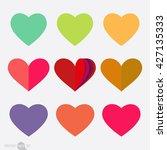 set of hearts | Shutterstock .eps vector #427135333