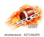 design with rugby ball | Shutterstock .eps vector #427136293