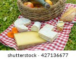 several french cheese with... | Shutterstock . vector #427136677