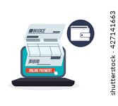 invoice design. online payment. ...   Shutterstock .eps vector #427141663