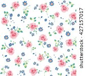 wallpaper vintage pink flower... | Shutterstock . vector #427157017