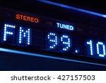 fm tuner radio display. stereo... | Shutterstock . vector #427157503