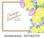 vintage delicate invitation... | Shutterstock .eps vector #427162723