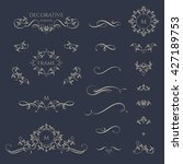 floral borders and monogram... | Shutterstock .eps vector #427189753