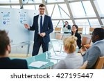 group of business people having ... | Shutterstock . vector #427195447