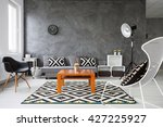 living room with grey walls and ... | Shutterstock . vector #427225927