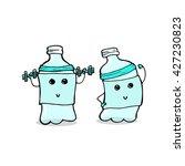 sport water good to drink | Shutterstock .eps vector #427230823