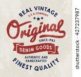 original vintage denim print... | Shutterstock .eps vector #427237987