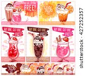 six different discount coupons... | Shutterstock .eps vector #427252357