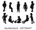 kids silhouettes   Shutterstock . vector #42725647