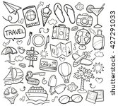 travel doodle icons hand made | Shutterstock .eps vector #427291033