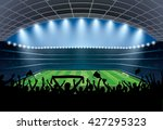 excited crowd of people at a... | Shutterstock .eps vector #427295323