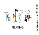 filming process  movie making | Shutterstock .eps vector #427312513