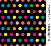 color circle pattern seamless | Shutterstock .eps vector #427313023