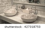 Close Up Of Washbasins In...