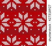 red sweater  pattern | Shutterstock . vector #427318927