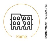 rome  italy  outline icon with... | Shutterstock .eps vector #427326643