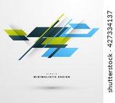 geometric vector background.... | Shutterstock .eps vector #427334137