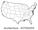 map   united states  washington ... | Shutterstock . vector #427334353