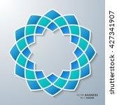 3d round symmetrical islamic... | Shutterstock .eps vector #427341907