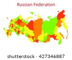 russian federation map. vector... | Shutterstock .eps vector #427346887