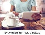 woman in kitchen  | Shutterstock . vector #427350637