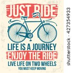 bicycle slogan graphic for t... | Shutterstock .eps vector #427354933
