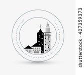 city design. building icon.... | Shutterstock .eps vector #427359373
