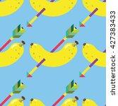 seamless banana and arrow... | Shutterstock .eps vector #427383433