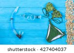 set of beach clothes.green... | Shutterstock . vector #427404037
