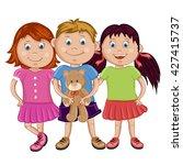 group of  happy friends  boys... | Shutterstock .eps vector #427415737
