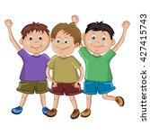 group of  happy friends | Shutterstock .eps vector #427415743