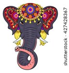 indian elephant face | Shutterstock .eps vector #427428367