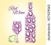 wine.  | Shutterstock .eps vector #427429063
