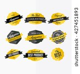 set of colorful retro labels ... | Shutterstock .eps vector #427451893
