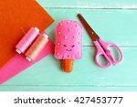handmade felt ice  felt food... | Shutterstock . vector #427453777