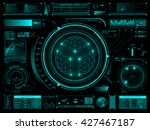 futuristic user interface hud... | Shutterstock .eps vector #427467187