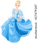 illustration beautiful girl... | Shutterstock .eps vector #427479187
