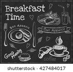breakfast time. set on the... | Shutterstock .eps vector #427484017
